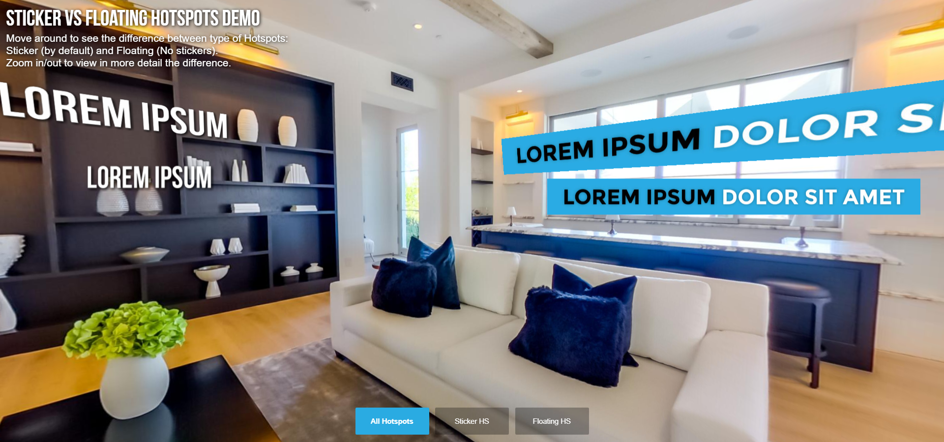 Text Hotspots in Virtual Tours