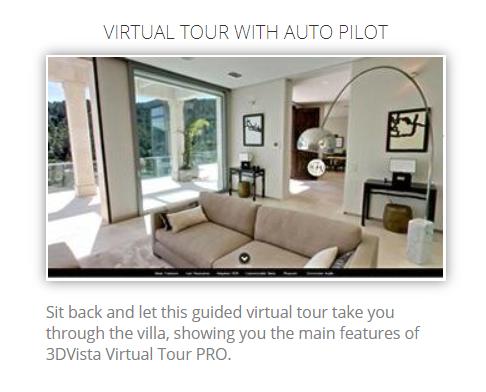 Virtual Tour with Auto Pilot