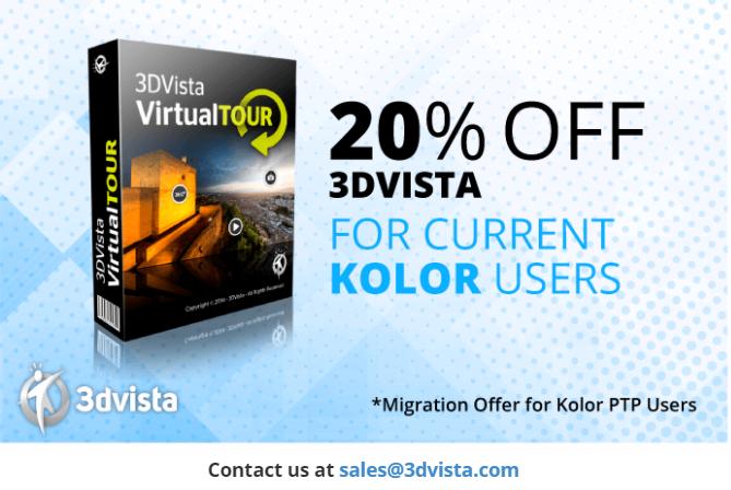 20% Discount for 3DVista