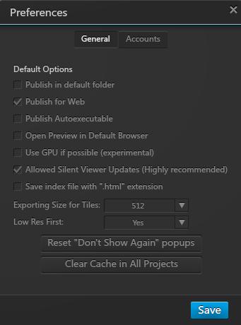 Options Menu for Silent Updates