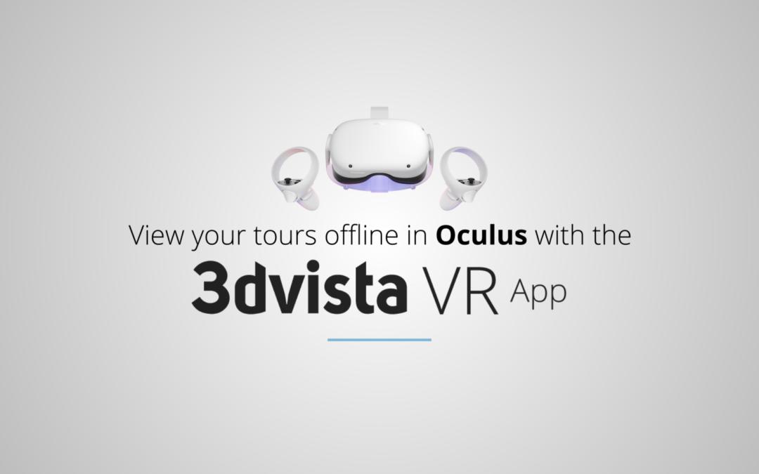 Presentamos la app 3DVista VR para Oculus Quest
